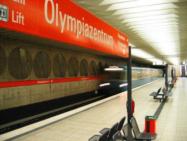 Станция метро Olympiazentrum