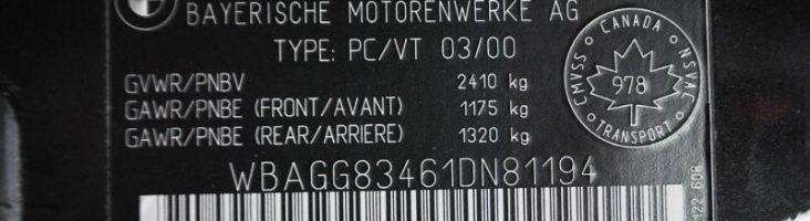 BMW e46 все по vin коду