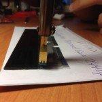 Припаивание шлейфа приборной панели
