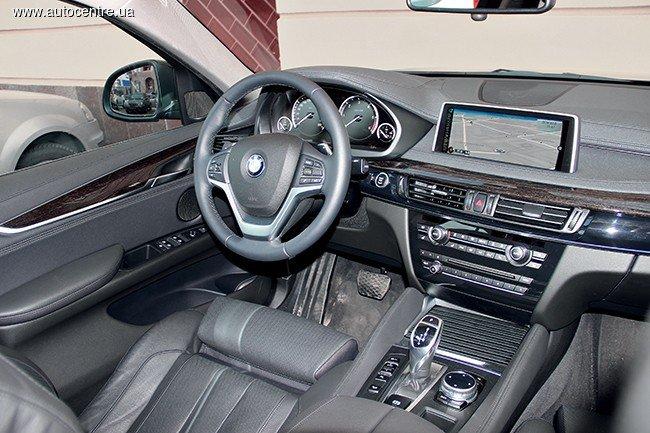 Автомобиль BMW X6: в салоне
