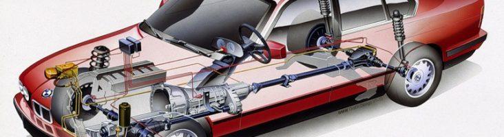 Полный привод BMW 5 - схема