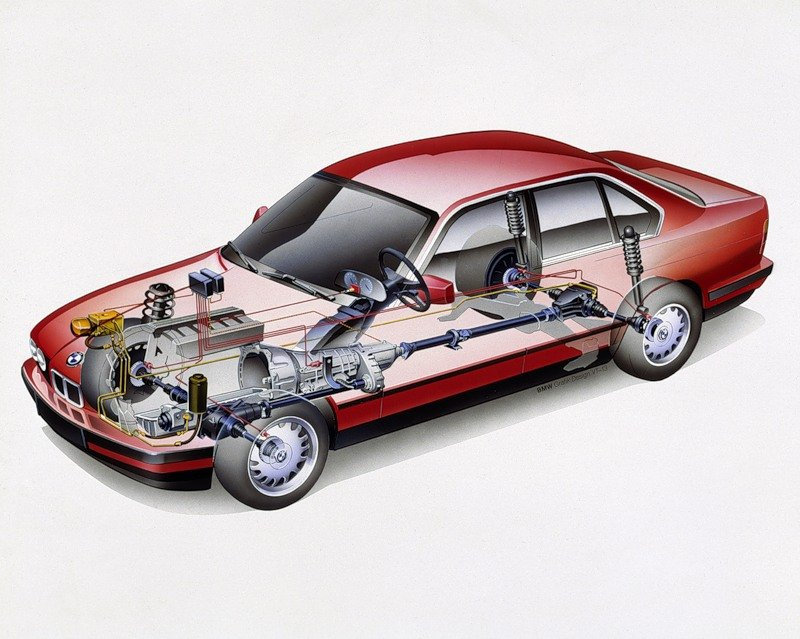 Система полного привода BMW 5 серии в кузове е34
