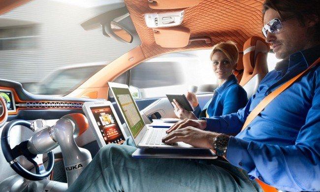 Складной руль в BMW i3
