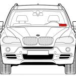 VIN код BMW под лобовым стеклом
