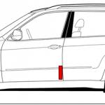 VIN код BMW с торца двери