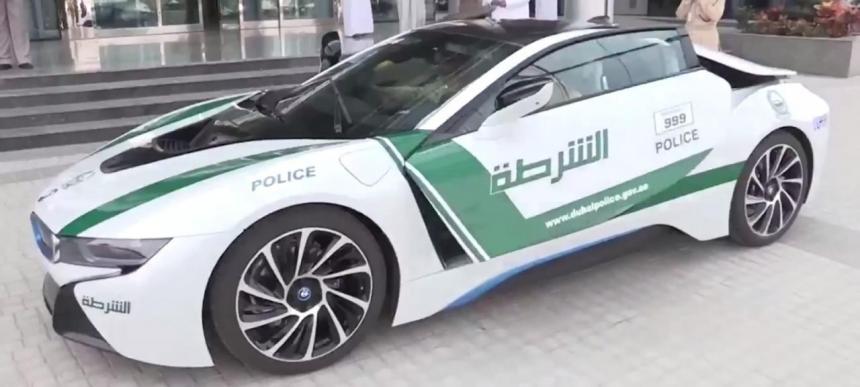 BMW i8 теперь на службе полиции Дубая