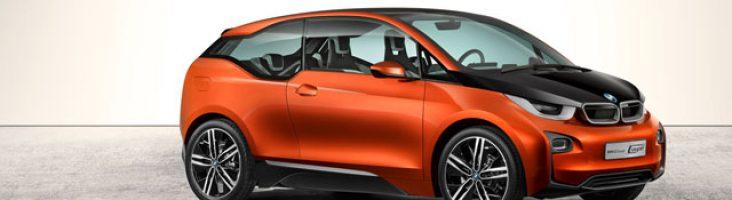Оранжевый BMW i3