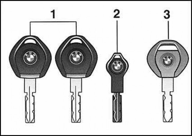 Виды ключей BMW E39