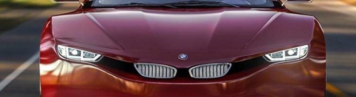 BMW M9 красный