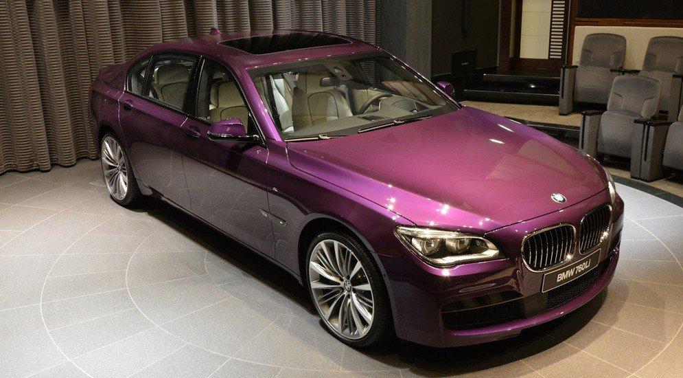 BMW 7-series пурпурный