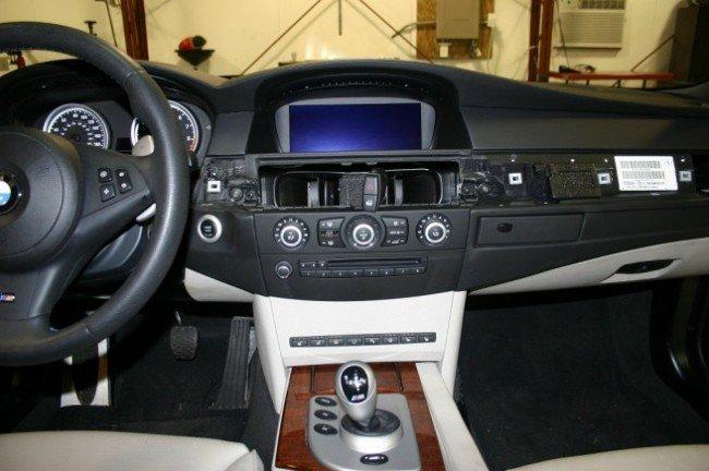 Установка панели BMW E60