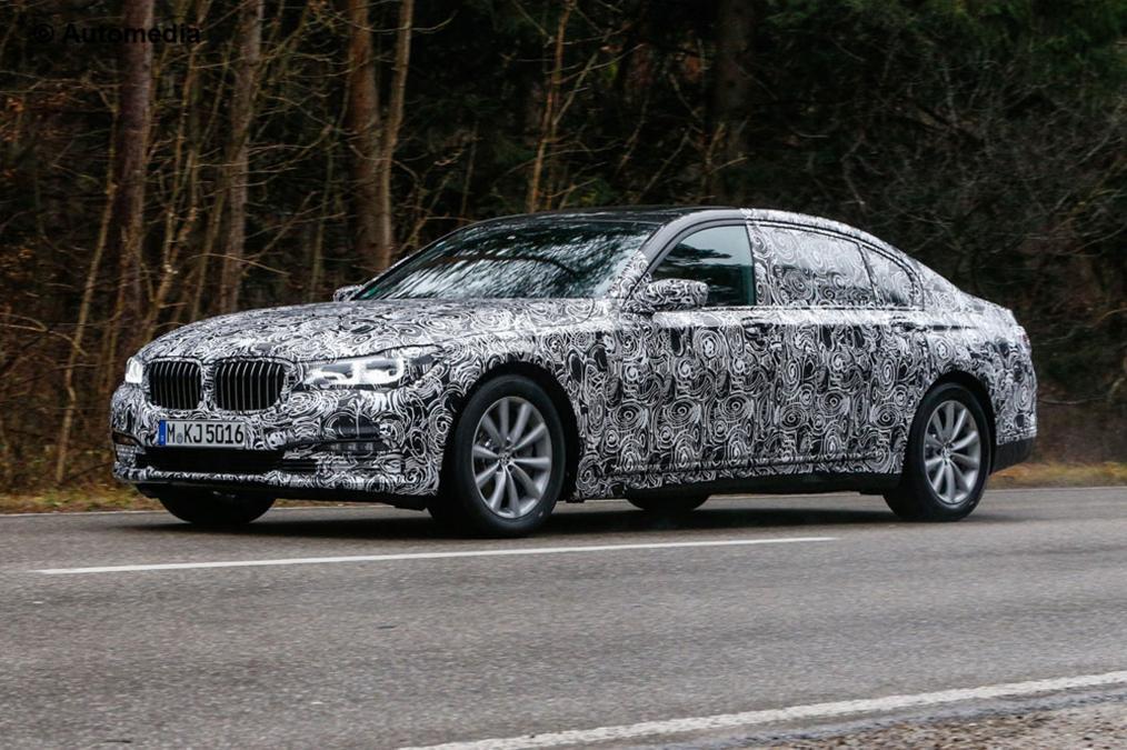BMW 7 под камуфляжем