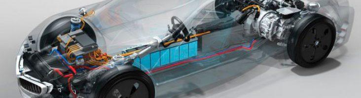 Схема силовой установки BMW i8