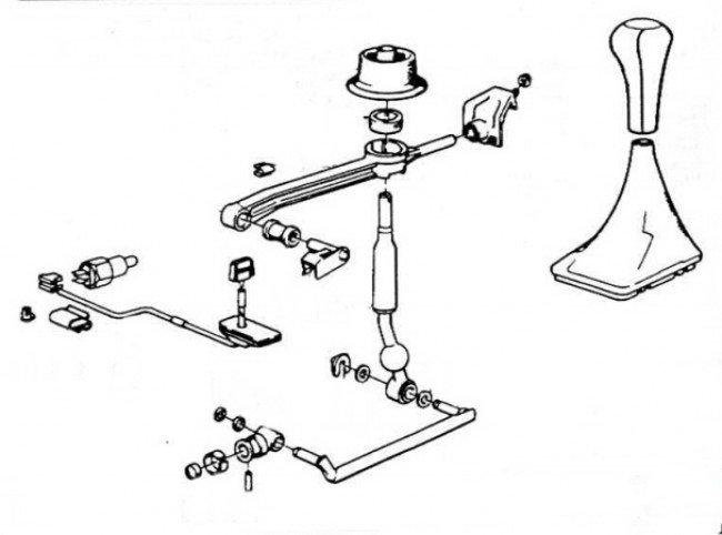 Схема кулисы BMW E 34