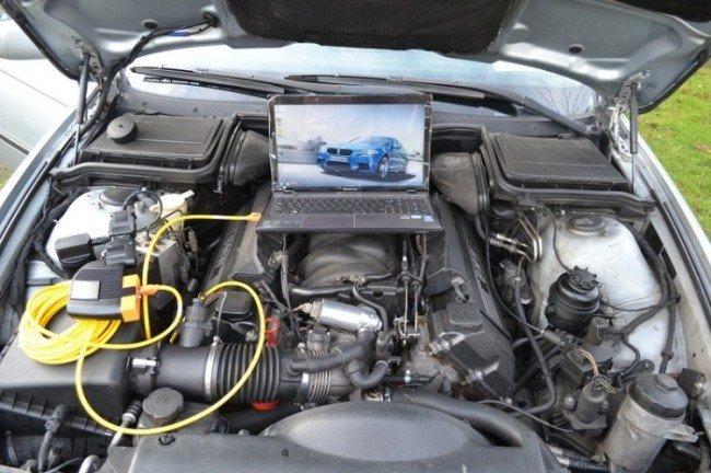 Двигатель BMW Е39 при проведении диагностики