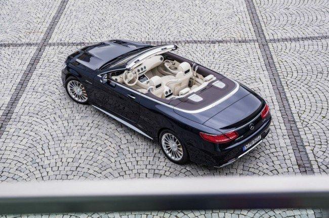 Mercedes-Benz S65 Cabriolet вид сверху