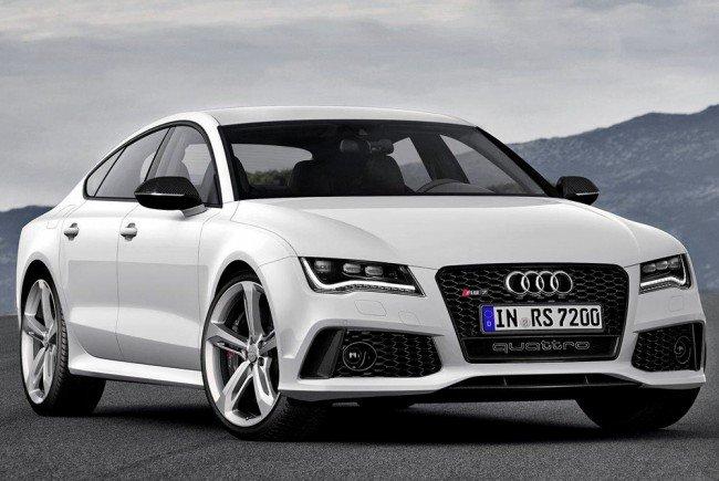 Автомобиль Audi белого цвета