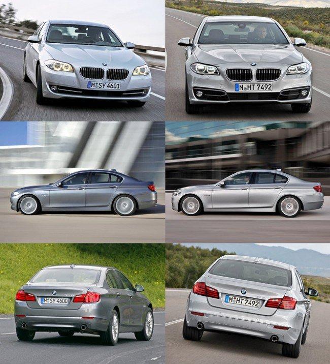 Сравнение BMW F10 и рестайлинговой модели