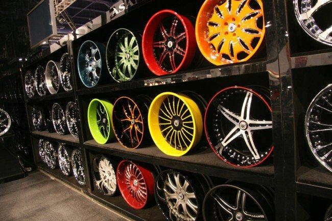 Покрашеные колёсные диски